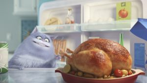 cat eating turkey